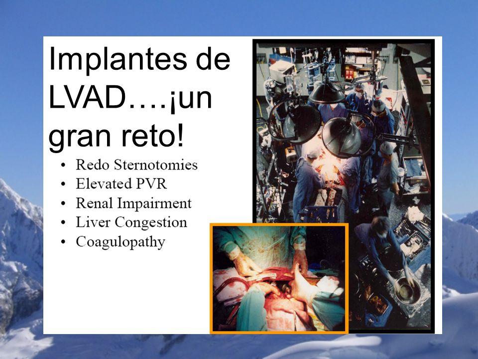 Implantes de LVAD….¡un gran reto!