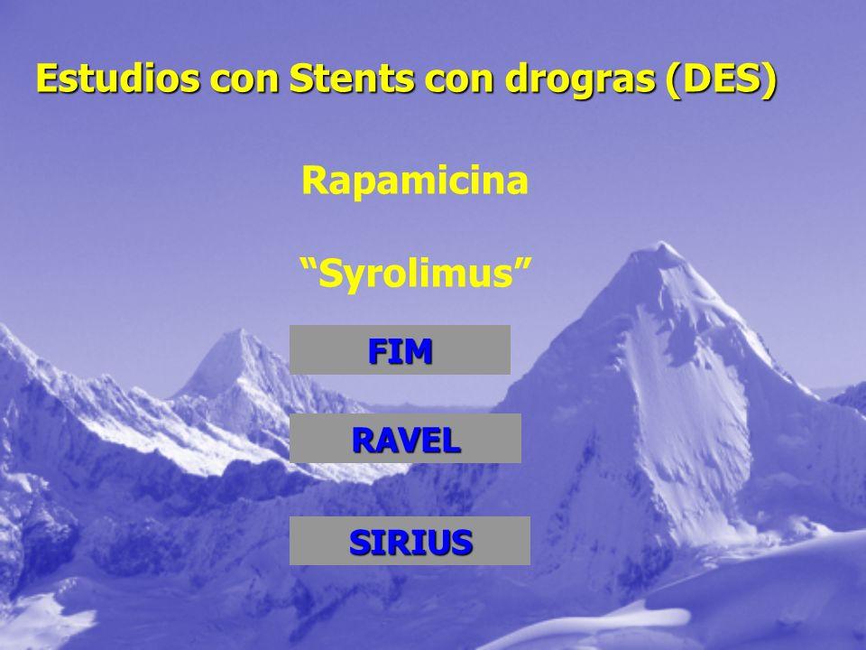 Estudios con Stents con drogras (DES)