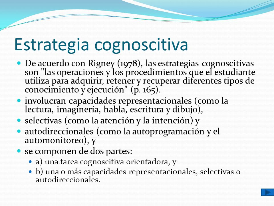 Estrategia cognoscitiva