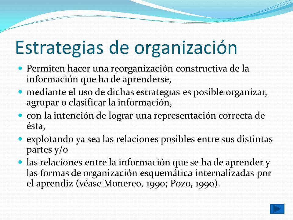 Estrategias de organización