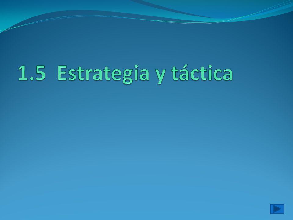 1.5 Estrategia y táctica