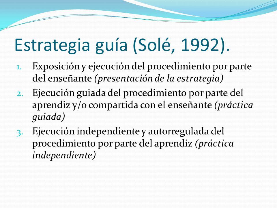Estrategia guía (Solé, 1992).