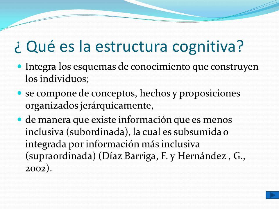 ¿ Qué es la estructura cognitiva