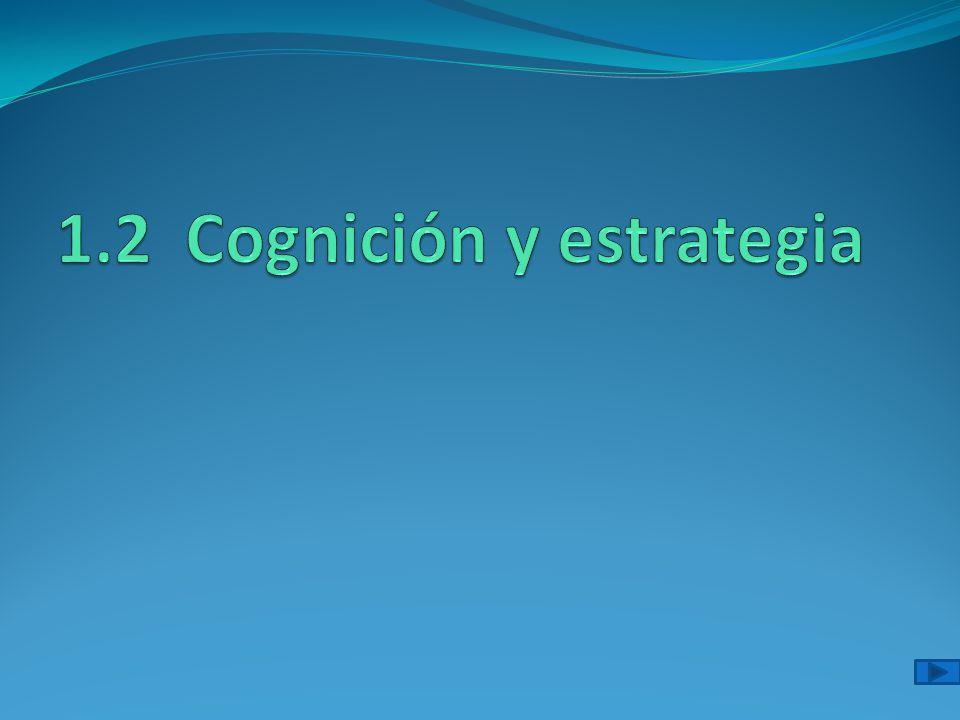 1.2 Cognición y estrategia