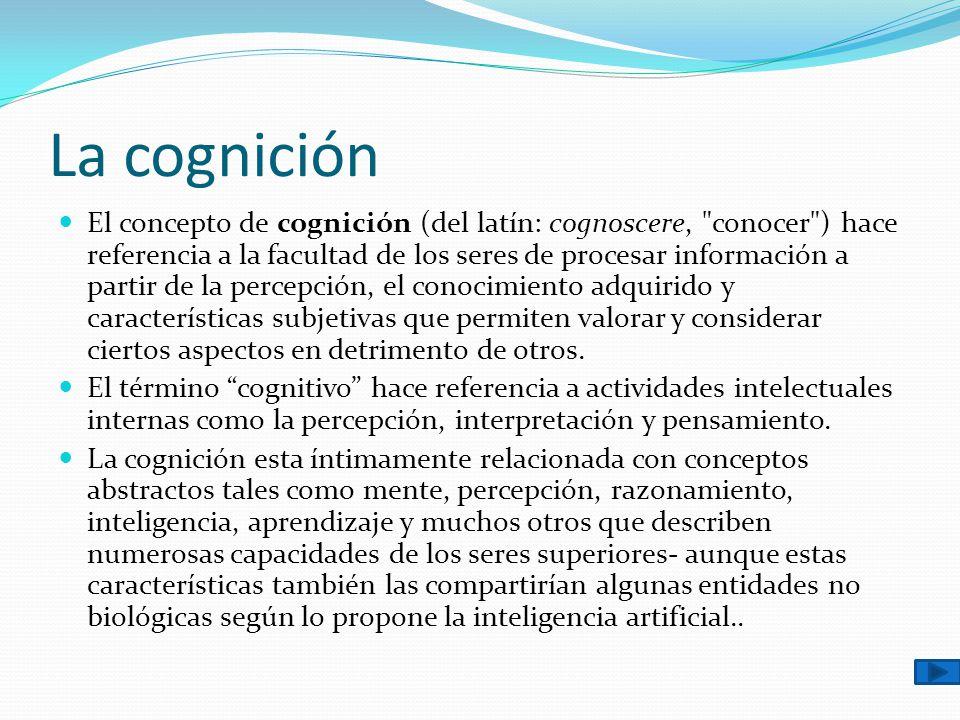 La cognición