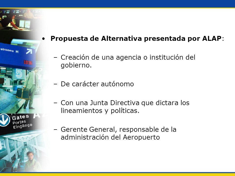 Propuesta de Alternativa presentada por ALAP: