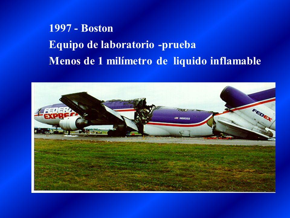 1997 - Boston Equipo de laboratorio -prueba Menos de 1 milímetro de liquido inflamable