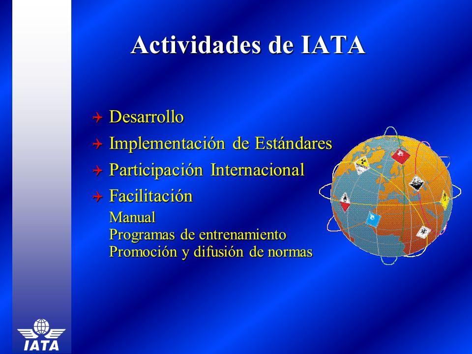 Actividades de IATA Desarrollo Implementación de Estándares