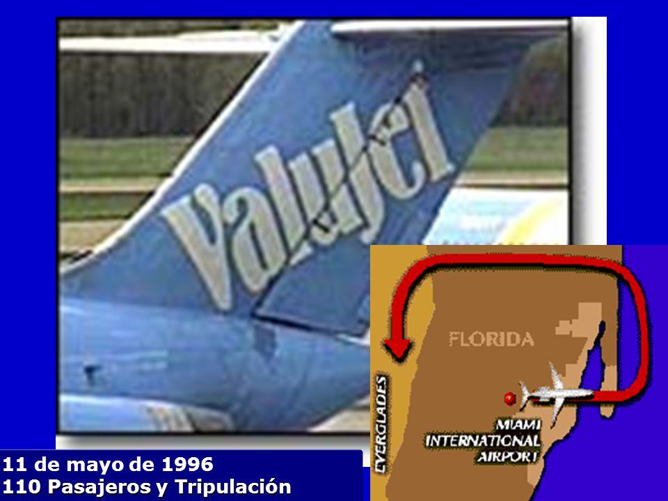 11 de mayo de 1996 110 Pasajeros y Tripulación