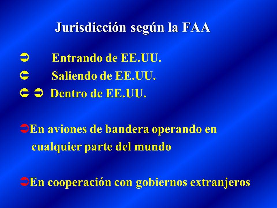 Jurisdicción según la FAA