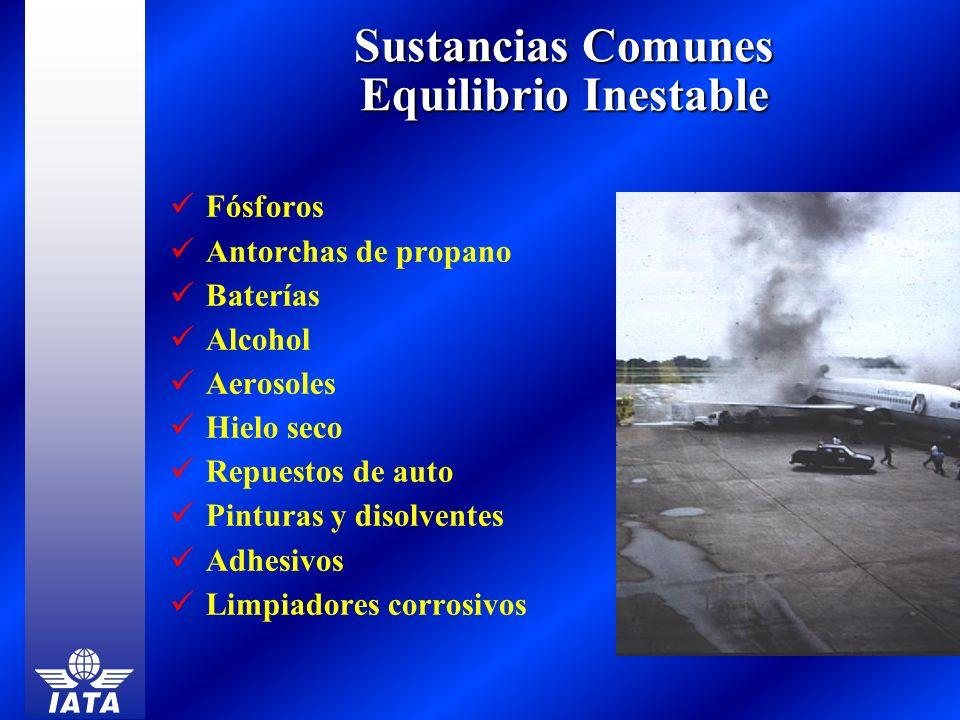 Sustancias Comunes Equilibrio Inestable