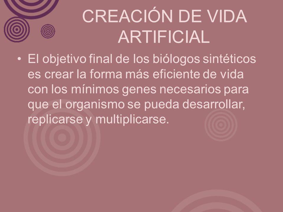 CREACIÓN DE VIDA ARTIFICIAL