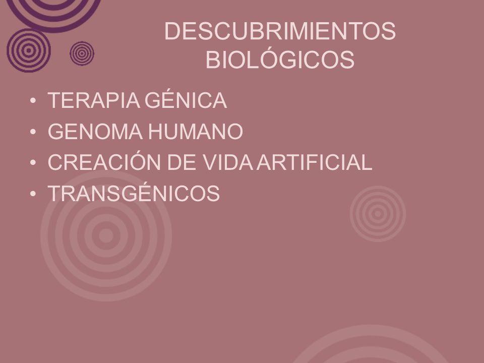 DESCUBRIMIENTOS BIOLÓGICOS