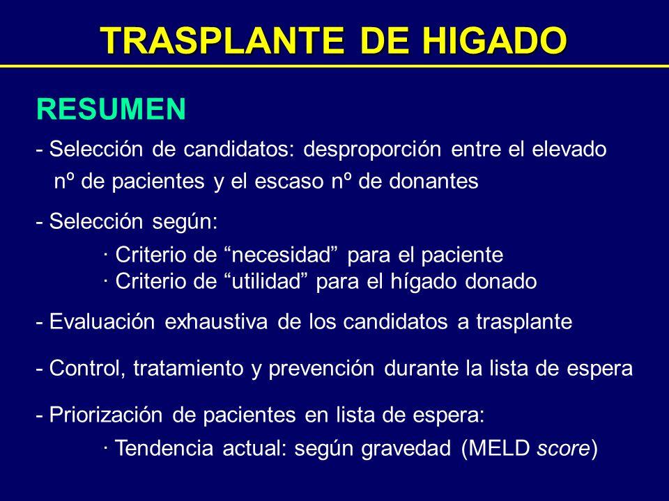 TRASPLANTE DE HIGADO RESUMEN
