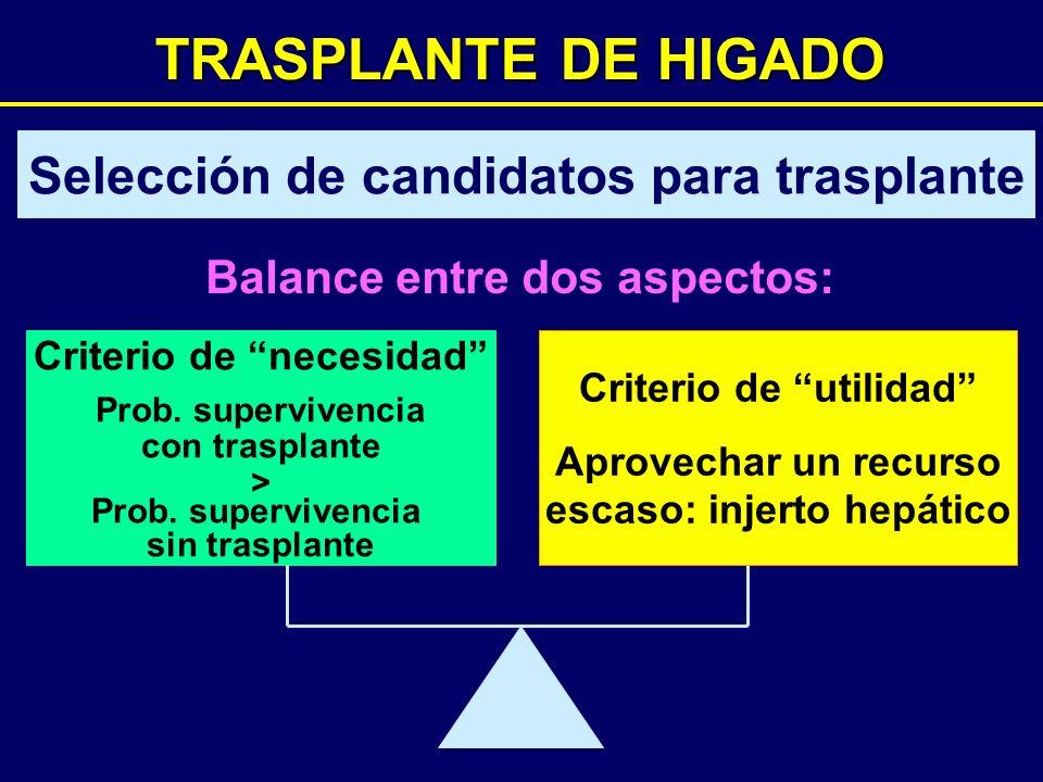 TRASPLANTE DE HIGADO Selección de candidatos para trasplante