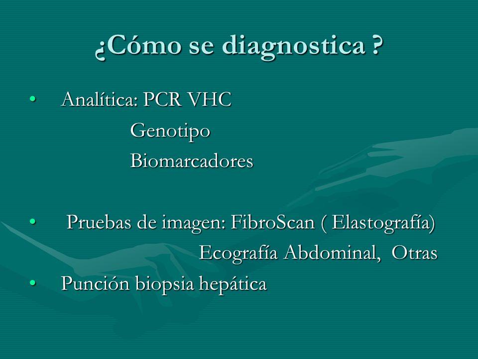 ¿Cómo se diagnostica Analítica: PCR VHC Genotipo Biomarcadores