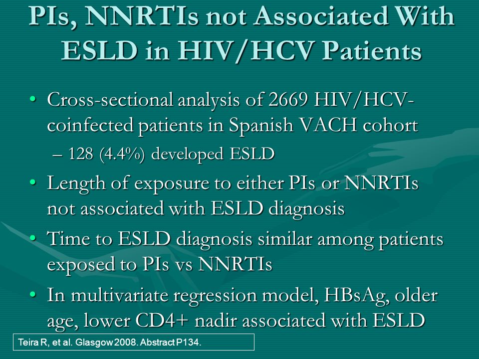 PIs, NNRTIs not Associated With ESLD in HIV/HCV Patients