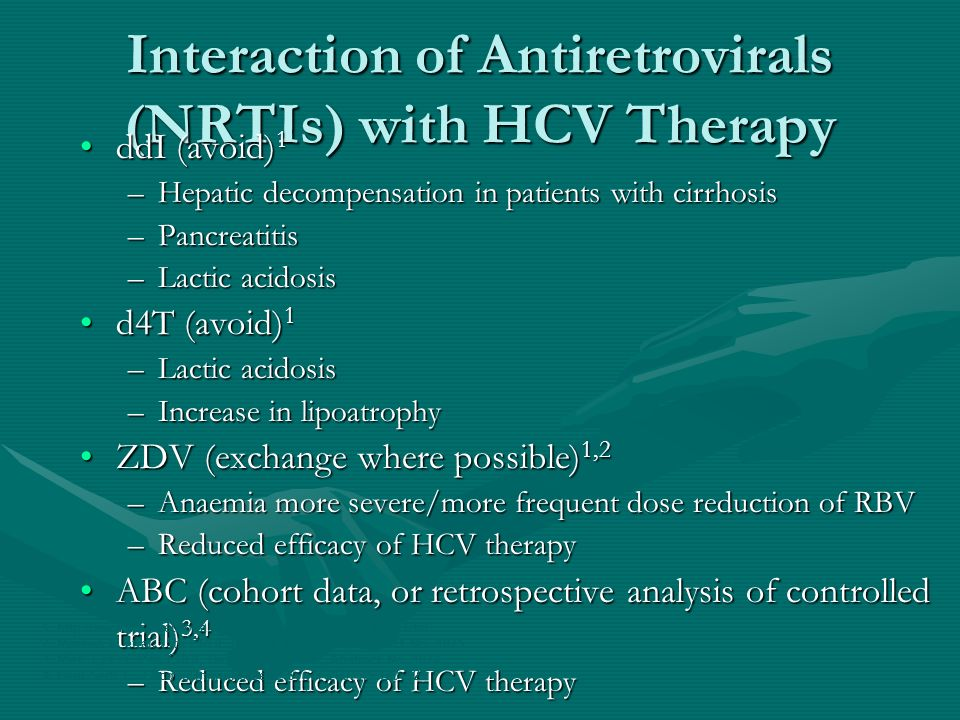 Interaction of Antiretrovirals (NRTIs) with HCV Therapy