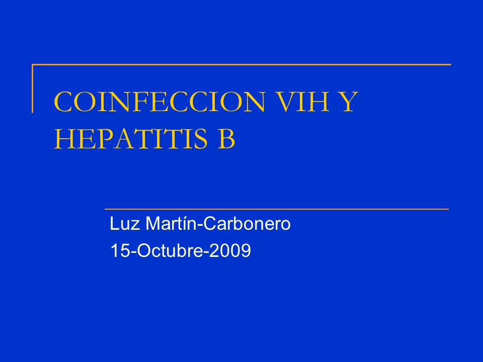 COINFECCION VIH Y HEPATITIS B