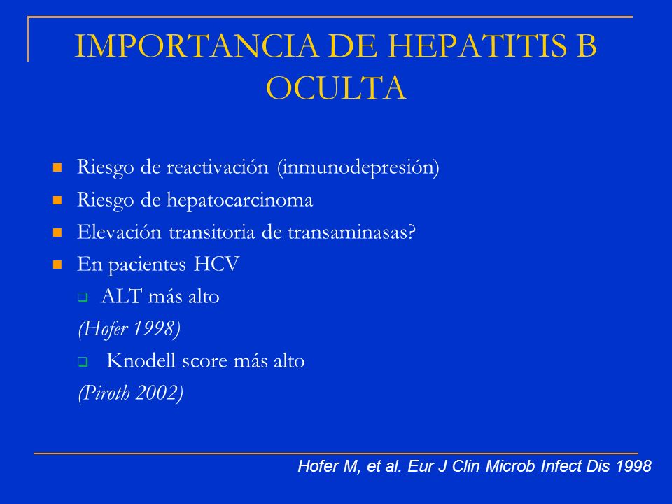 IMPORTANCIA DE HEPATITIS B OCULTA