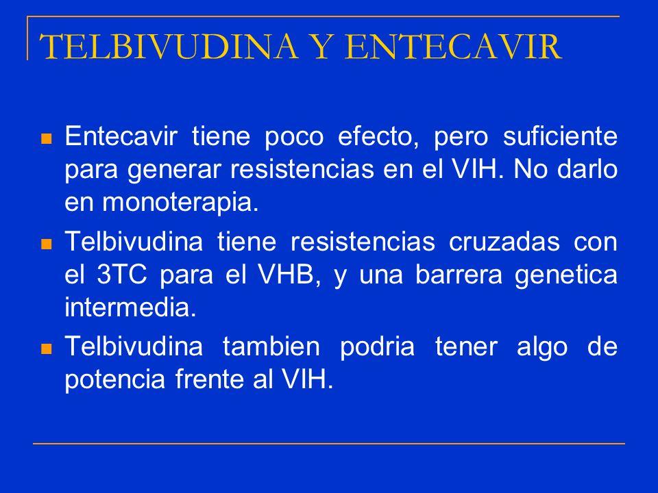TELBIVUDINA Y ENTECAVIR