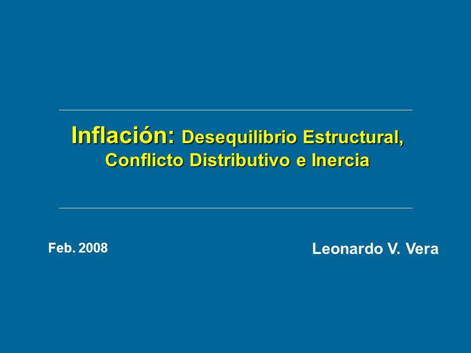 Inflación: Desequilibrio Estructural, Conflicto Distributivo e Inercia