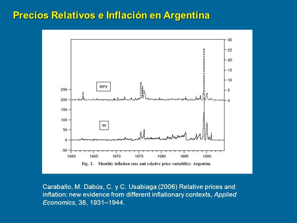 Precios Relativos e Inflación en Argentina