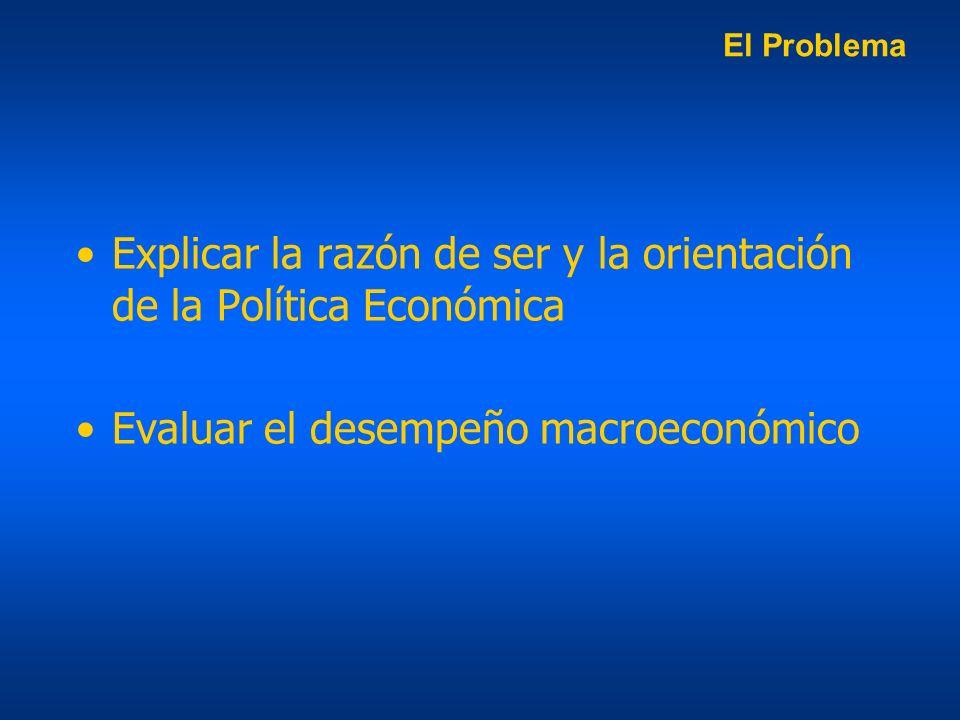 Explicar la razón de ser y la orientación de la Política Económica