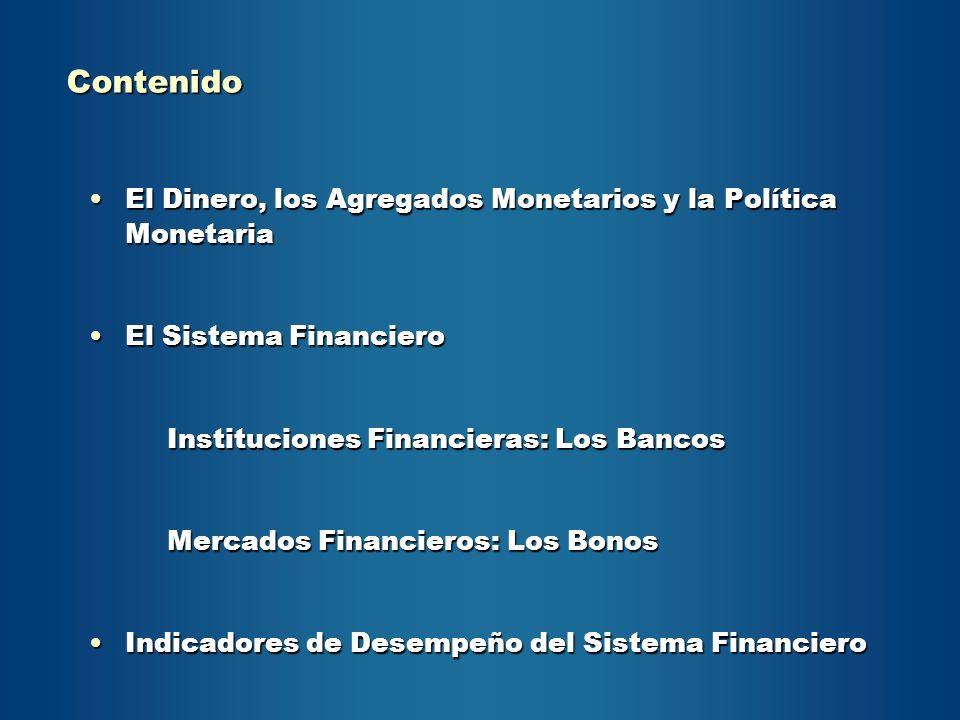 Contenido El Dinero, los Agregados Monetarios y la Política Monetaria