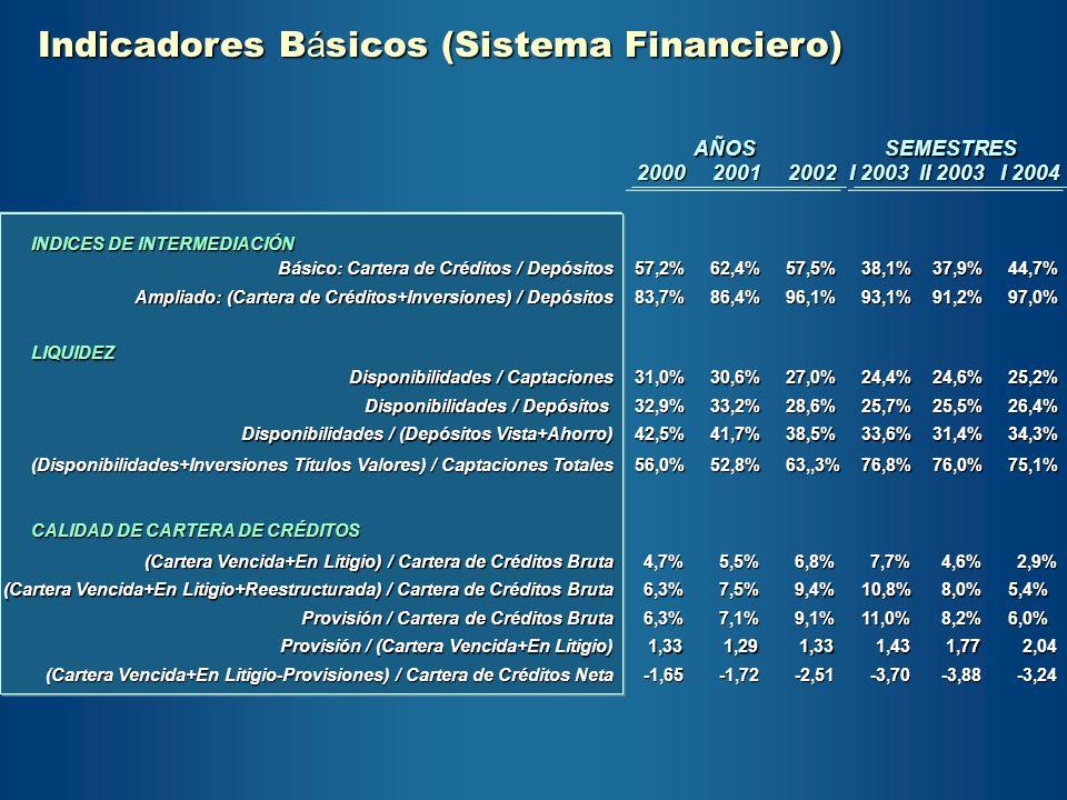 Indicadores Básicos (Sistema Financiero)
