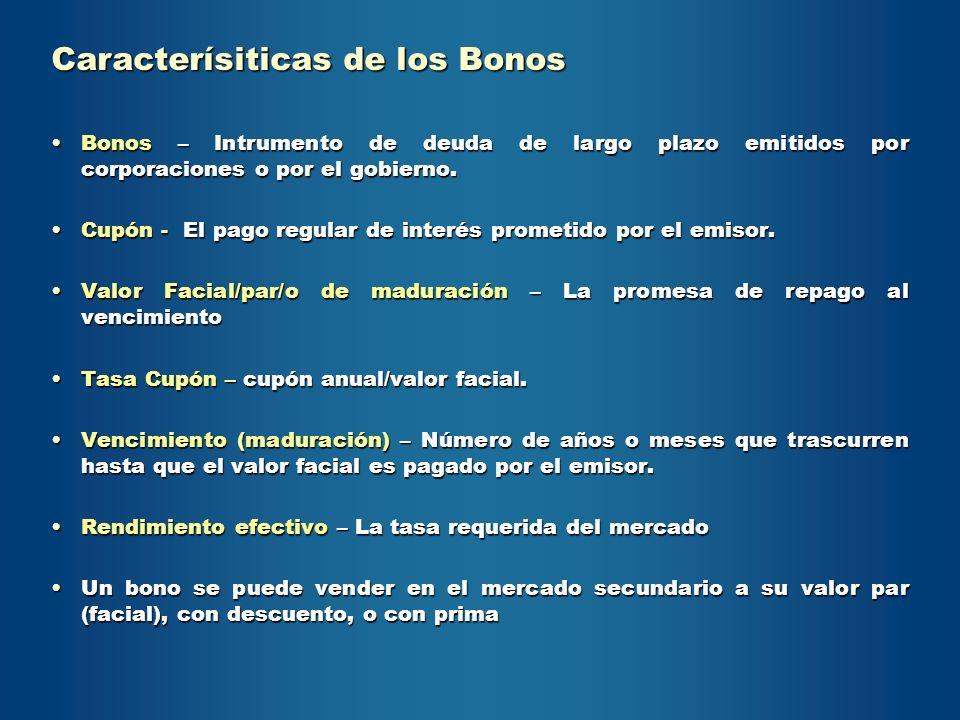Caracterísiticas de los Bonos