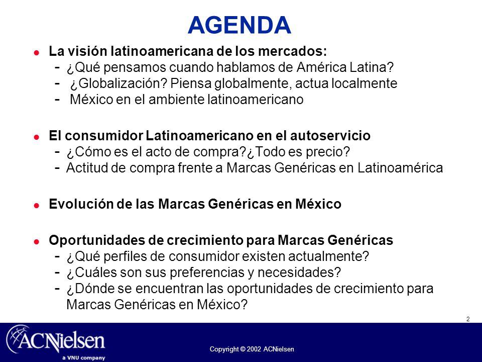 AGENDA La visión latinoamericana de los mercados: