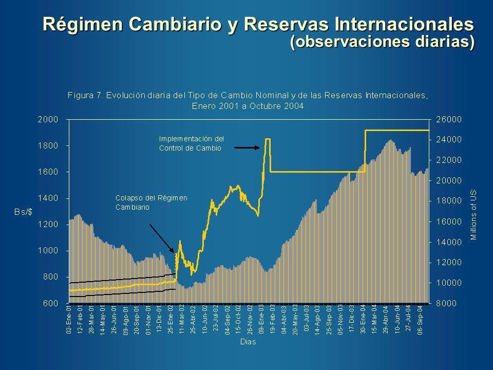 Régimen Cambiario y Reservas Internacionales (observaciones diarias)