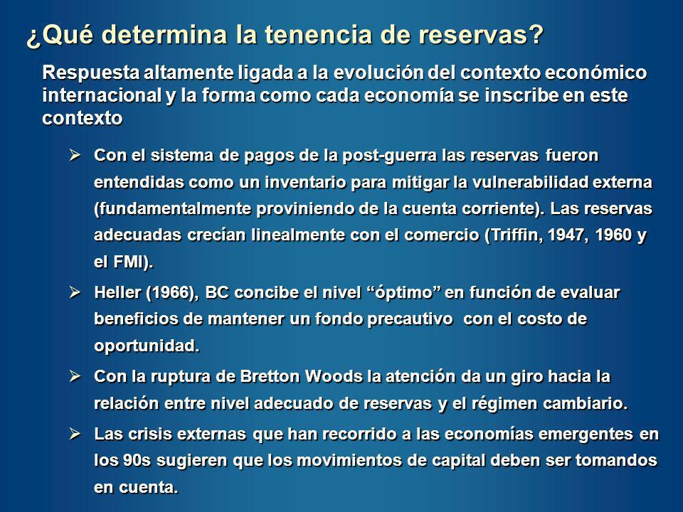¿Qué determina la tenencia de reservas