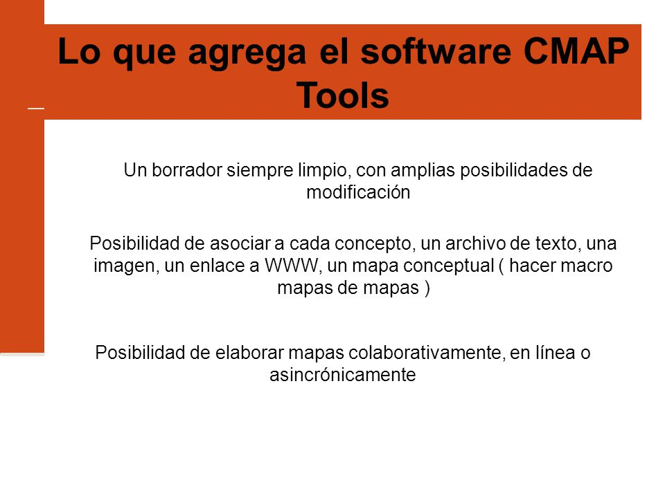 Lo que agrega el software CMAP Tools