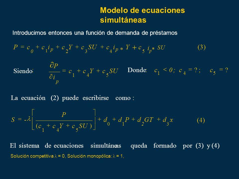 Modelo de ecuaciones simultáneas