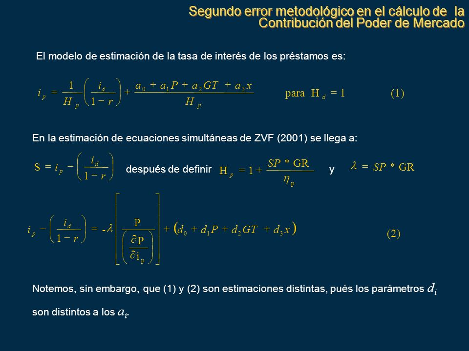 Segundo error metodológico en el cálculo de la Contribución del Poder de Mercado