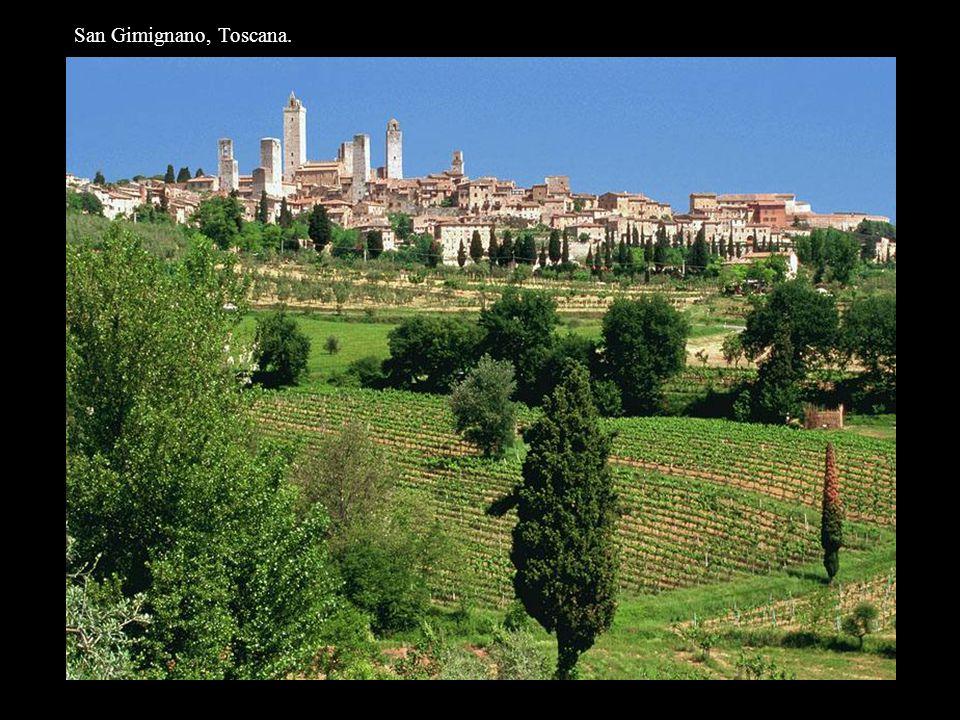 San Gimignano, Toscana.