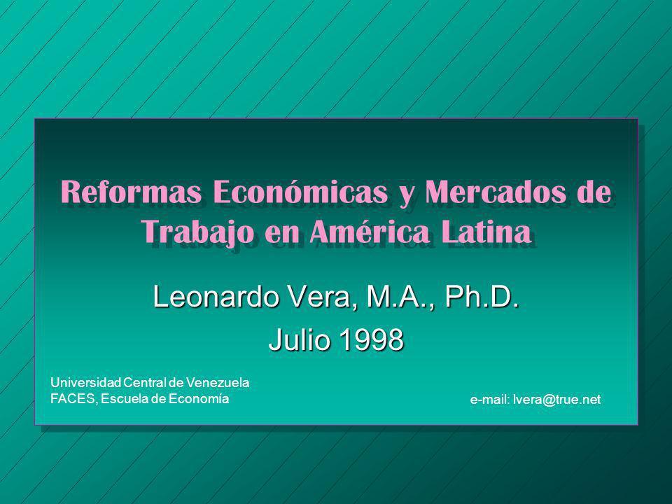 Reformas Económicas y Mercados de Trabajo en América Latina