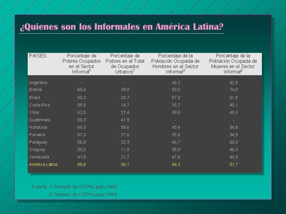 ¿Quienes son los Informales en América Latina