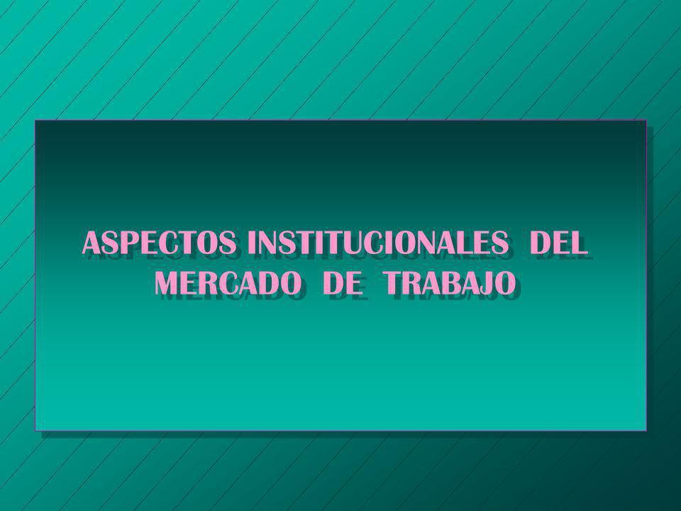 ASPECTOS INSTITUCIONALES DEL MERCADO DE TRABAJO