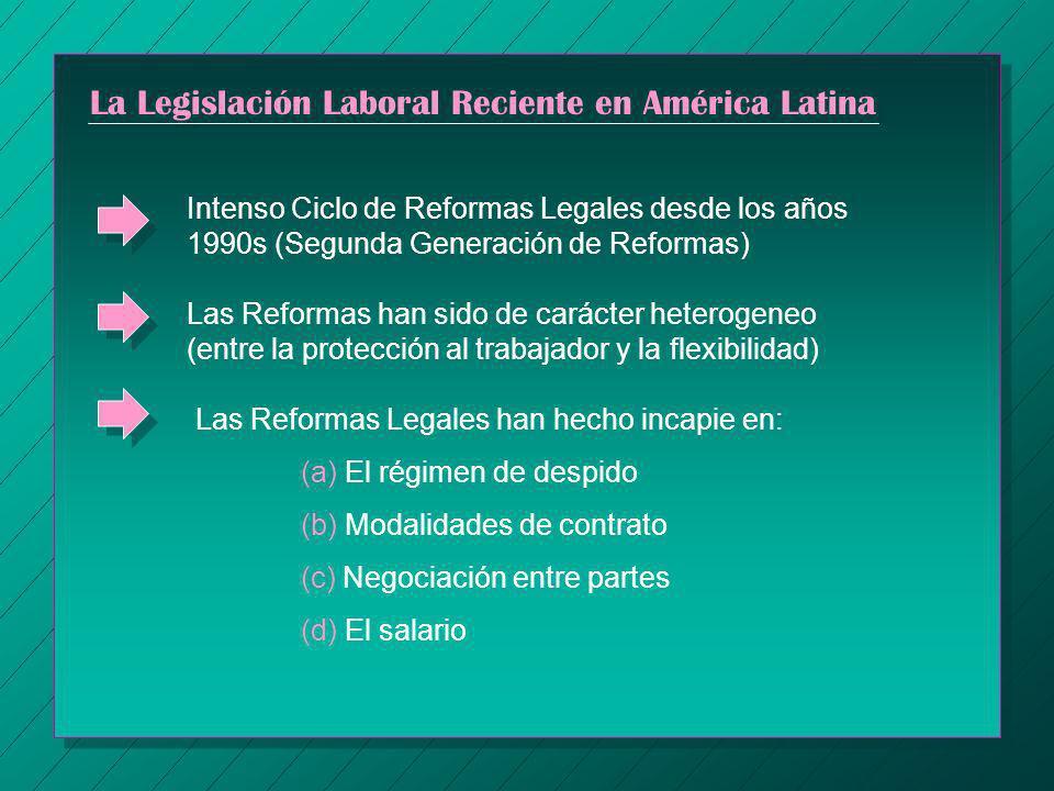 La Legislación Laboral Reciente en América Latina