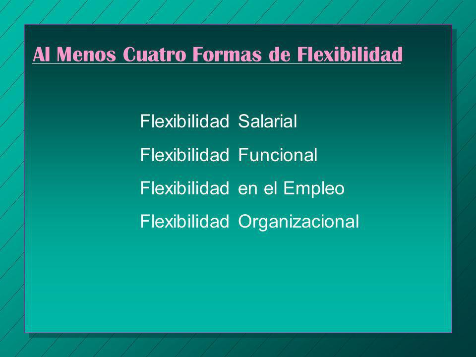 Al Menos Cuatro Formas de Flexibilidad