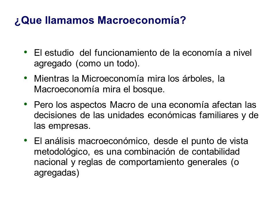 ¿Que llamamos Macroeconomía