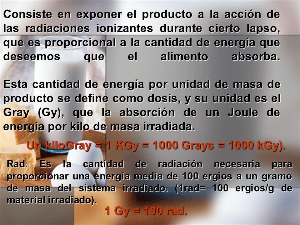 Un kiloGray = 1 KGy = 1000 Grays = 1000 kGy).