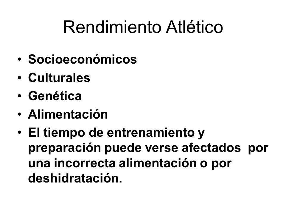 Rendimiento Atlético Socioeconómicos Culturales Genética Alimentación