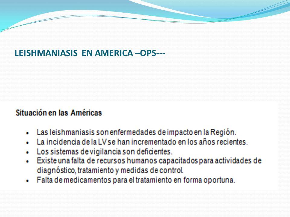 LEISHMANIASIS EN AMERICA –OPS---