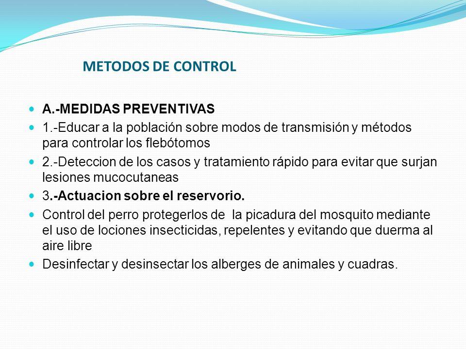 METODOS DE CONTROL A.-MEDIDAS PREVENTIVAS