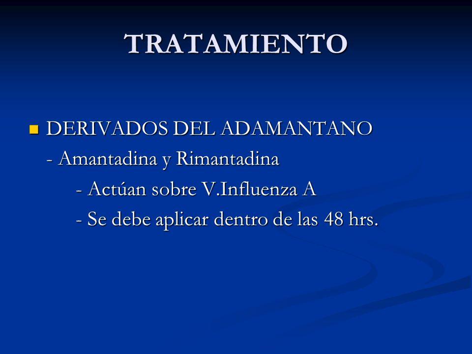 TRATAMIENTO DERIVADOS DEL ADAMANTANO - Amantadina y Rimantadina