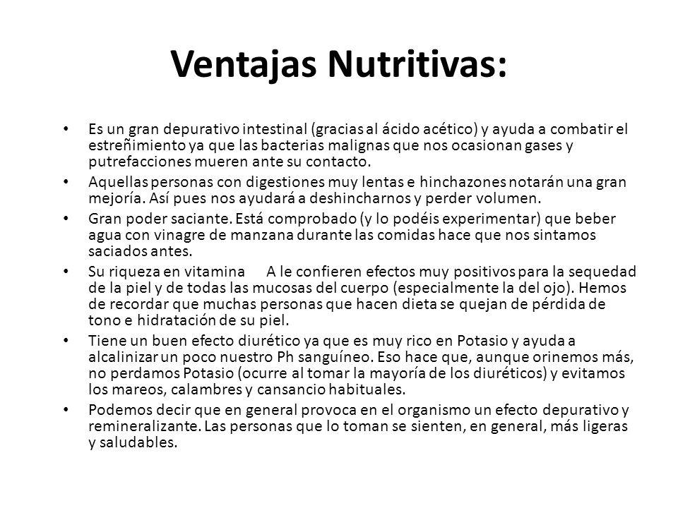 Ventajas Nutritivas: